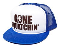 Posse Comitatus Gone Squatchin' Flat Bill Unisex-Adult One-Size Trucker Hat