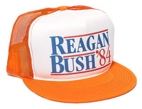 Reagan Bush 84 Campaign Flat Unisex-Adult Trucker Hat -One-Size