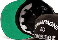 Champagne & Cocaine Embroidered Unisex-Adult Hat One-Size Black/Black