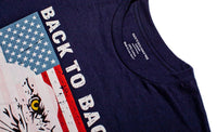 Back To Back World War Champs Eagle USA Men's T-Shirt Navy