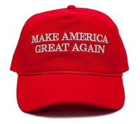 Make America Great Again Embroidered Donald Trump 2016 Cloth & Braid Hat (MAGA_RED)