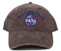 NASA I Need My Space Pigment Dye Embroidered Hat Cap Unisex Adult Multi