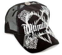 Bavarian Illuminati ambigram Cap Hat Unisex-Adult Trucker -One-Size Black