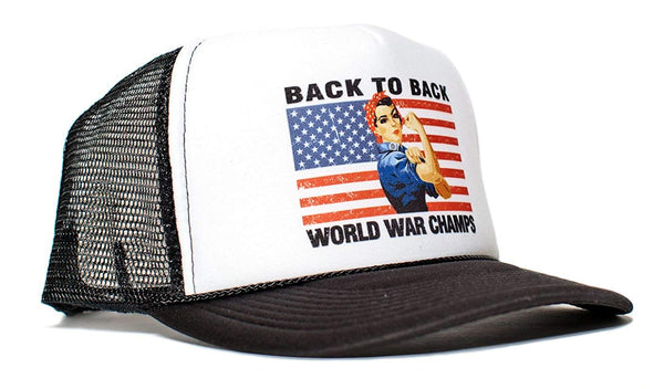 Rosie Back To Back World War Champs Unisex-Adult Hat One-Size