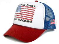 Back To Back World War Champs Unisex-Adult Cap -One-Size Royal/White/Red