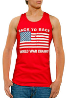 Back To Back World War Champs USA Flag Men's Tank Top Red