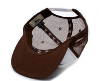 Booty Hunter Flat Bill Unisex-Adult One-Size Trucker Hat Cap Brown/White