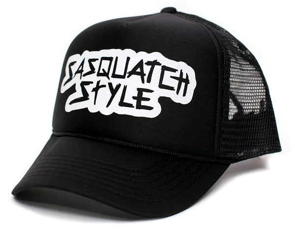 Sasquatch Style Custom Gone Squatchin' Trucker hat One-Size Unisex Black