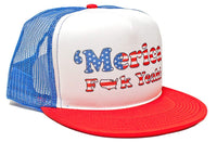 'Merica F Yeah Unisex-Adult Trucker Hat -One-Size Royal/White/Red