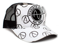 ATHEIST UNITED One-size Unisex-adult Truckers Cap Hat Black/White