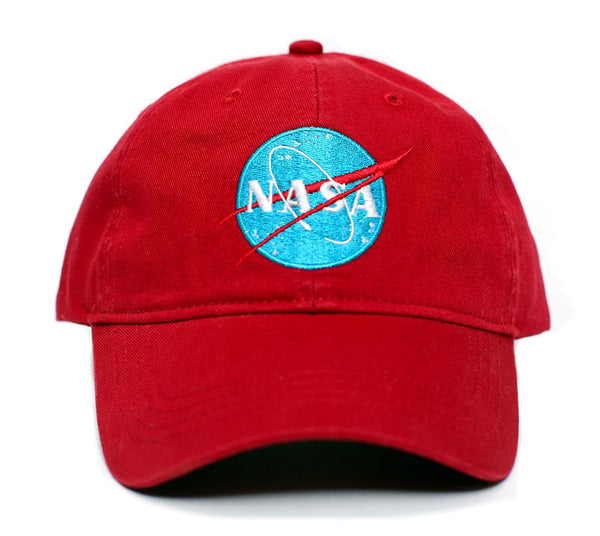 NASA Tomorrowland Embroidered Unisex adult one-size Dad Hat Cap Red