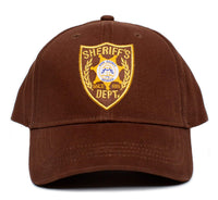 Walking Dead Hat Sheriff's Dept Appliqué Unisex-Adult One-Size Cap Brown