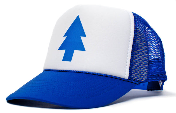 Blue Pine Tree Dipper Gravity Falls Cartoon Hat Cap Curved Bill