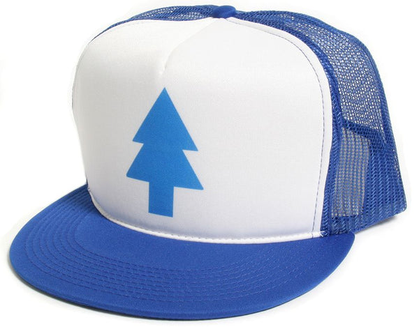Blue Pine Tree Dipper Gravity Falls Cartoon Hat Cap Flat Bill