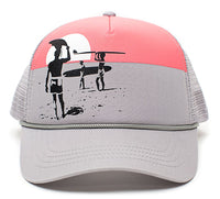 ENDLESS SUMMER Surfing Movie Gray/Pink Hat Cap Trucker Curved