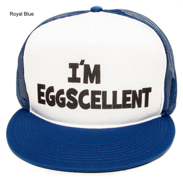 The Regular Show- I'm Eggscellent Hat Cap Eggcelent Excellent Snapback Royal Flat Bill