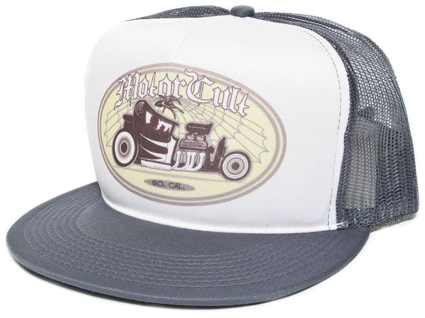 So. Cal Motor Cult Hot Rod Vintage Car Hat Cap Snapback baseball Gray