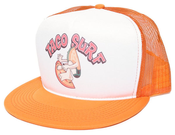 TACO SURF Surfer Baja California Hat Cap Baseball Cap Hat Snapback Orange