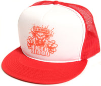 DUH! Winning! Tiger Blood Red Hat Cap Charlie Sheen Truckers Snapback