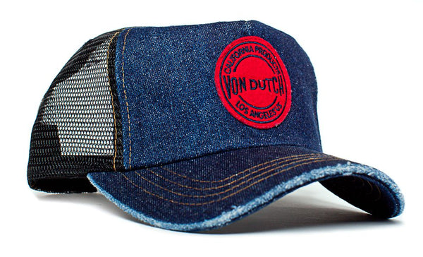 Von Dutch Eric Church California Products Los Angeles Hat Cap Blue Distressed Denim Rare