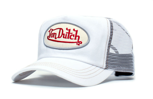 Von Dutch Originals Vintage (2005) White Mesh White Twill Chris Hat Cap