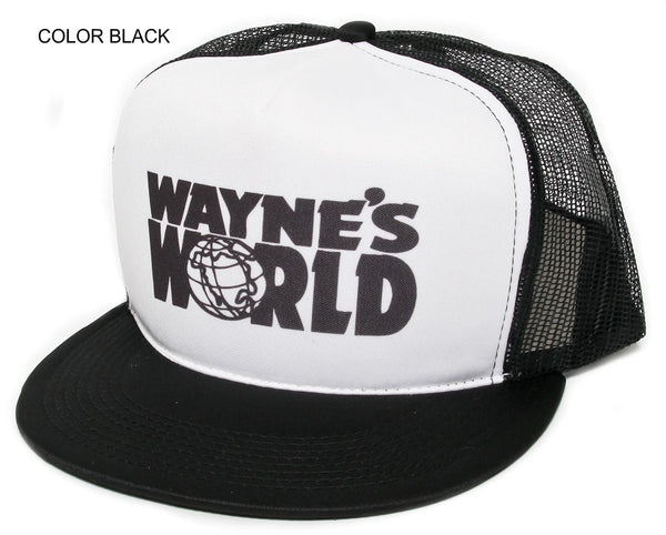 Wayne's World Hat Cap Mesh/Foam Truckers Snapback Black