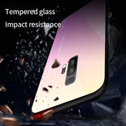 1 Pcs Phone Case Luxury Glass Back Cover Gradual Style Tempered Glass Hard Phone Case For Samsung Galaxy S8 S9 Plus Note 8