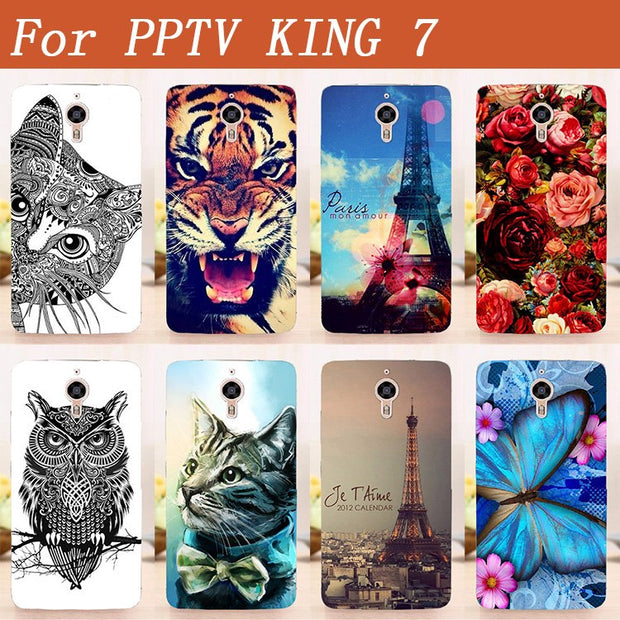 100% New Luxury Fashion Colorful Art Printed Cute Phone Case Cover Shell For PPTV KING 7 6.0 Inch Back Cover Skin Printing