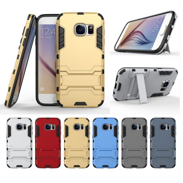 2 In 1 Combo Armor Heavy Duty Shockproof Stand Mobile Phone Case For Samsung S7 S8 Note5 UM