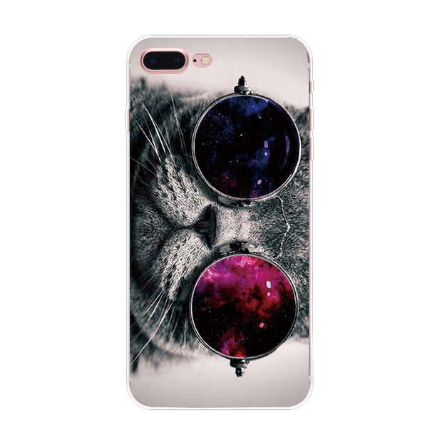 2017 Panda Mountains Printed Pattern Case For IPhone 7 6 6S Plus 5S SE 5 Back Soft TPU Cover Phone Cases Fundas Shell