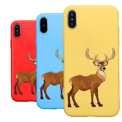 2018 Merry Christmas Elk Sika Deer Silicone TPU Cover For Iphone XS MAX XR X 10 5 5s 6 6s 7 8 Plus 7plus Soft Cases Phone Coque