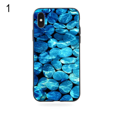 2018 New Hot Brand Stone Print Shockproof Protective Phone Case Cover For IPhone X Xs 7 8 Plus