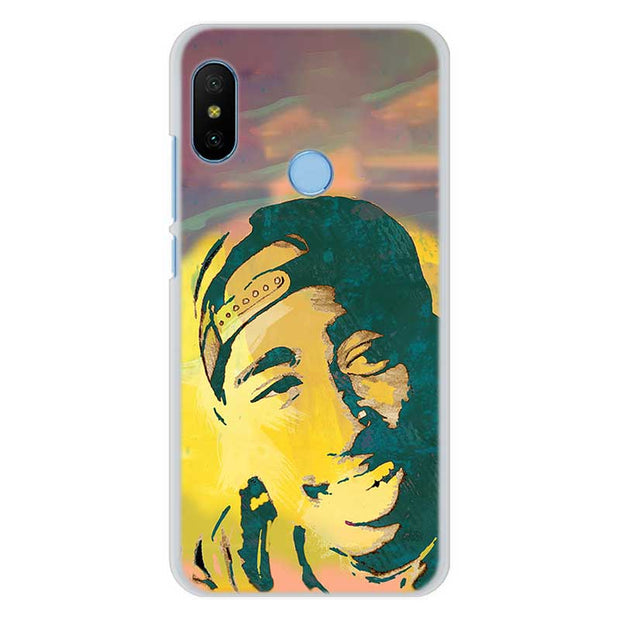 2Pac Tupac Shakur Phone Case For Xiaomi Redmi 4X S2 5A 6A 6 Pro A2 Lite Hard PC Case For Xiaomi Mi A1 A2 5X 6X Cover