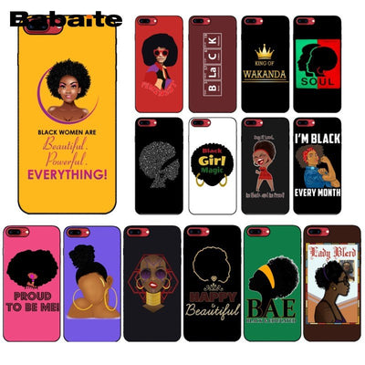 2bunz Melanin Poppin Aba Hot Printed Cool Phone Accessories Case For Apple Iphone 7 6 8plus XS XR X XAMAX 7plus 5 SE 7plus 8plus