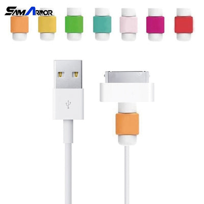 2pcs/lot USB Cable Earphones Protector Colorful For IPhone 4 4S 5 5S SE 5C 6 6s 7 Plus For Samsung Galaxy S3 S4 S5 S6 Case Cover