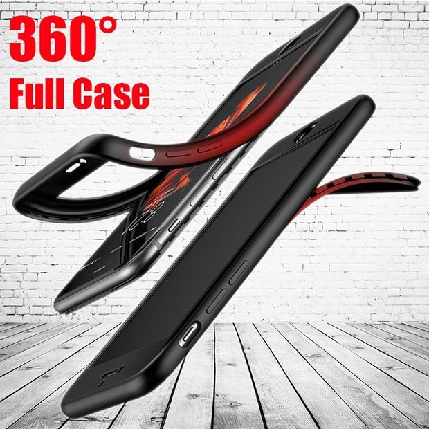 360 Degree Case For Xiaomi Redmi 4X 5 Plus 6 Note 5A 5 6 Pro MI 6 5X 6X A1 A2 Mi8 8 SE Lite F1 Full Body Protect Soft TPU Cover