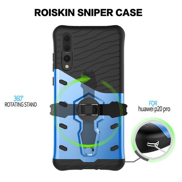 3D Armor Case Hybrid PC+TPU 360 Rotating Stand Case For Huawei P20 Phone Case For Huawei P20 Lite Nova 3e P20 Plus P20 Pro Case