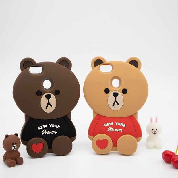 3D Cartoon Loving Bear Phone Case Soft Silicone Rubber Cover For OPPO R9 R9s R11 Plus R11s R15 R17 A73 A79 A83 F5 F7 F9 A1 A3 A5