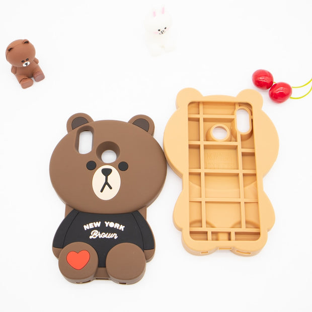 3D Cartoon Loving Bear Phone Case For Huawei P20 Lite Soft Silicone Rubber Shockproof Cover Fundas For Huawei P20 Lite/ Nova 3e