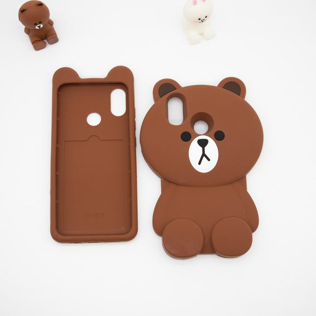 3D Cartoon Loving Bear Phone Case For Xiaomi Mi 8 Soft Silicone Rubber Shockproof Back Cover Funda Coque For Xiaomi Mi8 SE Mi8se