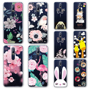 3D Emboss Flamingo Phone Case Bags For Nokia 7.1 Cartoon Peach Lace TPU Cover For Nokia 7.1 Plus 2018 Fundas Nokia7.1 7.1plus