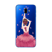 3D Emboss Flamingo Phone Case For Samsung Galaxy J6 Plus 2018 J6+ Cartoon Peach Lace J4 Plus 2018 Silicone Back Cover A7 2018