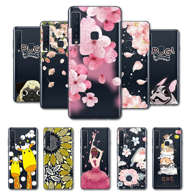 3D Relief Lace Soft Silicone TPU Case For Samsung A9 2018 A920F A920 SM-A920F Cases Capa For SamsungA9 2018 Phone Bag Coque