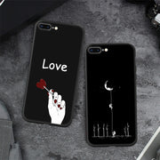 3D Relief Painted Cover Case For IPhone 7 8 Plus 6 6S Plus 5S SE 5 Cartoon Love Heart Soft Case For IPhone 7 X XR XS MAX Coque