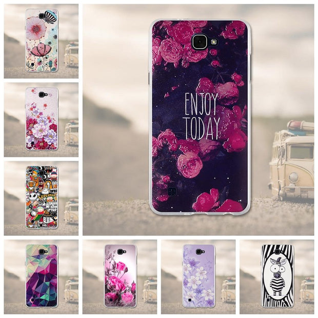 3D Relief Soft TPU For LG X5 / X MAX Style Silicone Case Cover Mobile Phone Bag For LG X MAX Case Fundas Shell ForLG X5 X 5 Case