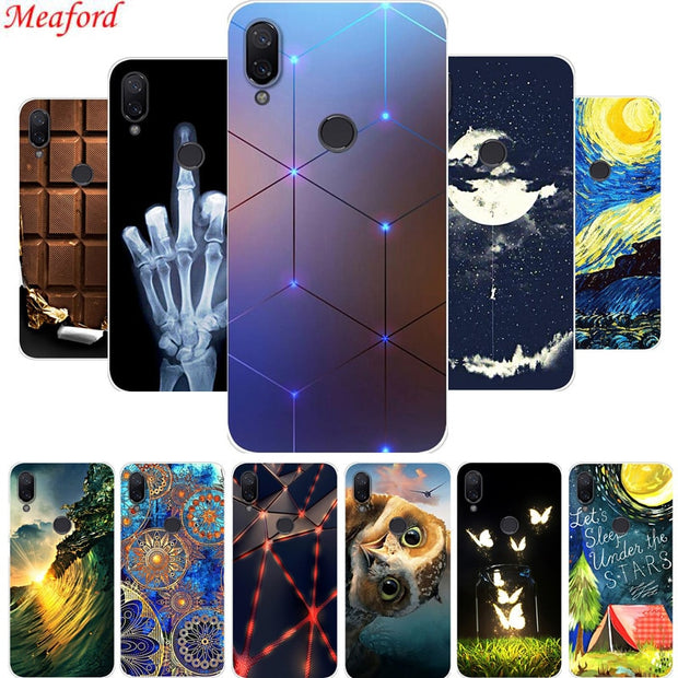 "5.84"" Case For Xiaomi Mi Play Case Cool Fashion Painting Soft Silicone TPU Back Cover For Xiaomi Play Phone Case Coque Fundas"