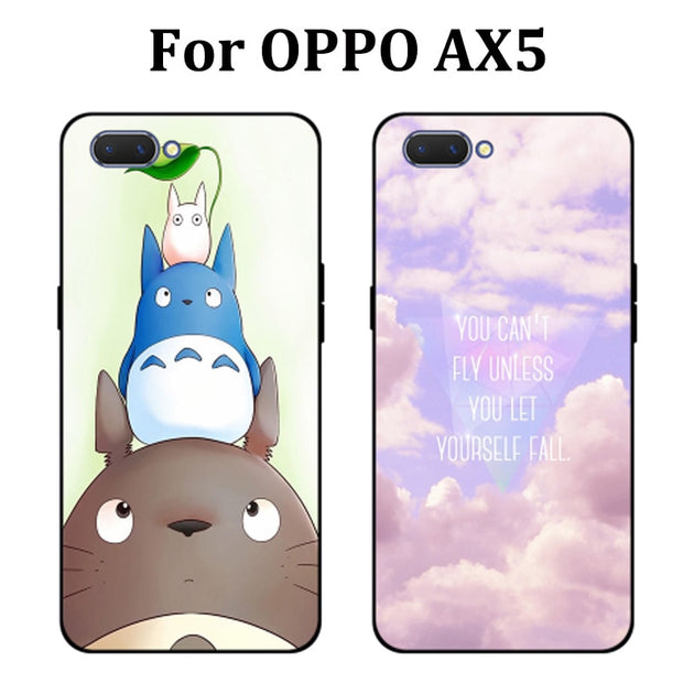 cheaper 09a1f fbeb6 6.2inch For OPPO AX5 Case Cute Cartoon Soft Phone Case OPPOAX5 Cover  Protection Shell For OPPO A X5 Fundas Capas For OPPO AX 5