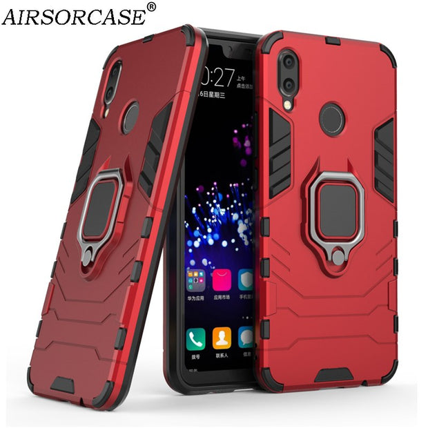 6.3'' For Huawei P Smart+ ( Nova 3i ) Case Cover With Ring Mobile Phone Cases Hard PC & TPU Hybrid Armor Kickstand Back Cover