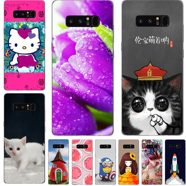 60 Style Cat Cases For Samsung Note 8 Case Cover For Samsung Galaxy Note 8  Case Back Cover Hard For Galaxy Note8