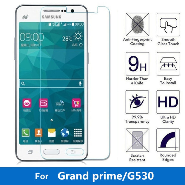 57dd278ec19 9H 2.5D 0.3mm Tempered Glass For Samsung Galaxy Grand Prime Screen Protector  G530 G5308